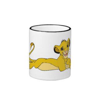 Simba del león del rey coloca Disney Taza De Dos Colores
