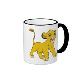 Simba Disney del león de rey Taza De Dos Colores