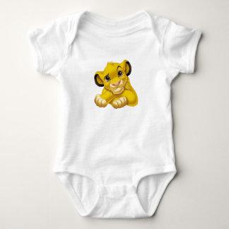Simba el rey Raised Eyebrow Disney del león Mameluco De Bebé