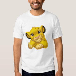 Simba el rey Raised Eyebrow Disney del león Playeras