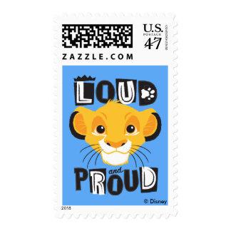 Simba el | ruidosamente y orgulloso sellos