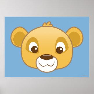 Simba Emoji Poster