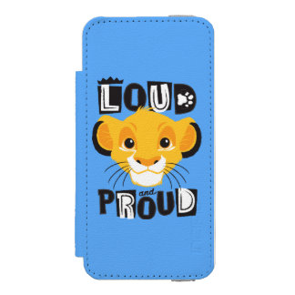 Simba | Loud And Proud iPhone SE/5/5s Wallet Case