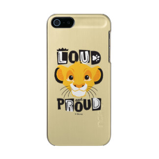 Simba | Loud And Proud Metallic Phone Case For iPhone SE/5/5s