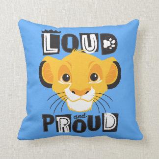 Simba | Loud And Proud Throw Pillow