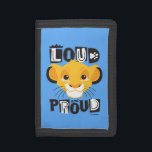 """Simba   Loud And Proud Tri-fold Wallet<br><div class=""""desc"""">This image features a &quot;loud and proud&quot; Simba from the Lion King.</div>"""
