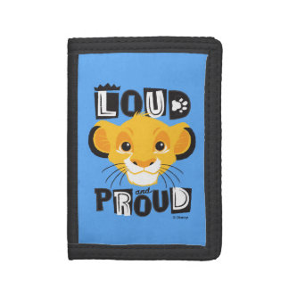 Simba   Loud And Proud Tri-fold Wallet
