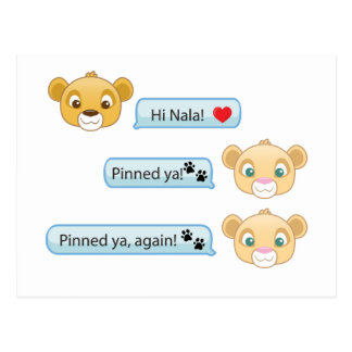 Simba Nala Conversation Postcard
