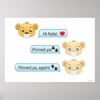 Simba Nala Conversation Poster