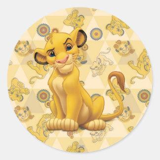 Simba Round Stickers