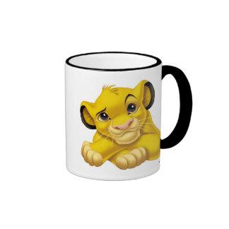 Simba The Lion King Raised Eyebrow Disney Ringer Coffee Mug