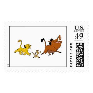 Simba, Timon, and Pumba Disney Stamp