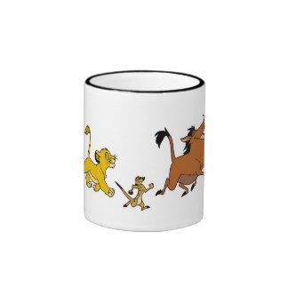Simba, Timon, y Pumba Disney Taza A Dos Colores