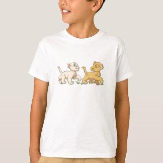 Simba y Nala Disney del león de rey Playera