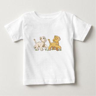 Simba y Nala Disney del león de rey Playera De Bebé