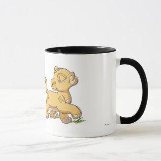 Simba y Nala Disney del león de rey Taza