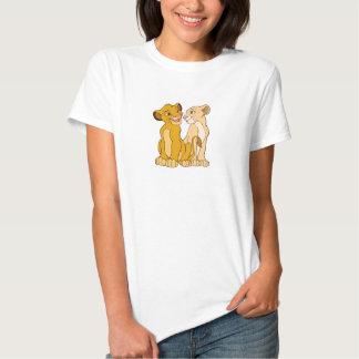 Simba y Nala Disney Polera