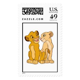 Simba y Nala Disney Sello Postal