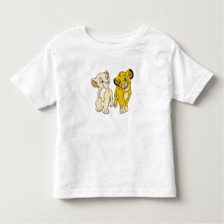 Simba y Nala Disney sonriente del león de rey Playera