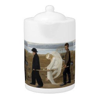 Simberg's Wounded Angel teapot