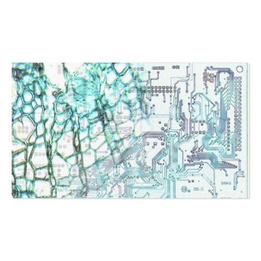 simbiosis - concepto tarjetas de visita