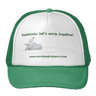 Simbiosis; ¡déjenos trabajan junto! gorro