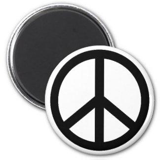 simbol de la paz imán redondo 5 cm