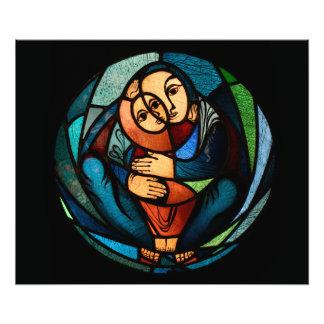 Simbol multicolor de MADONNA Y del NIÑO Fotografía