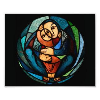 Simbol multicolor de MADONNA Y del NIÑO Impresiones Fotográficas