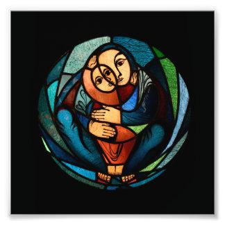 Simbol multicolor de MADONNA Y del NIÑO Fotos