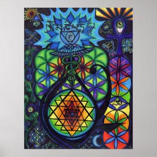 Simbolismo sagrado póster