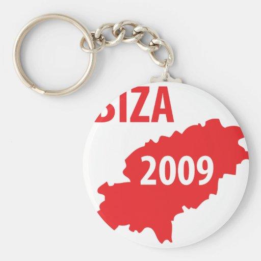 Símbolo 2009 de Ibiza Llavero Redondo Tipo Pin
