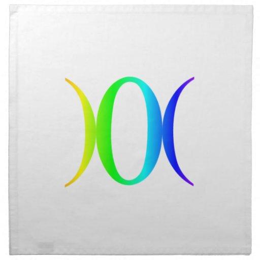 Símbolo #2 de la diosa del arco iris servilleta