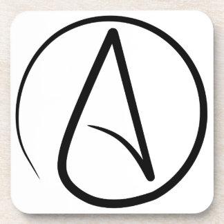 Símbolo #2 del ateísmo posavasos de bebidas