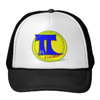 Símbolo 3,14 del pi último gorras de camionero