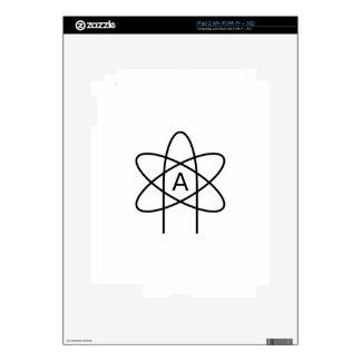 Símbolo #3 del ateísmo iPad 2 calcomanía