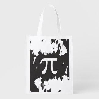 Símbolo abstracto del pi - 1 diseño echado a un bolsa reutilizable