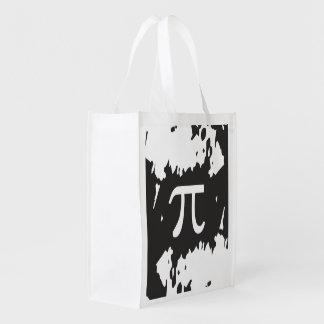 Símbolo abstracto del pi - diseño echado a un lado bolsa para la compra