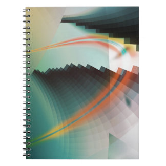 Símbolo abstracto fresco colorido libro de apuntes con espiral