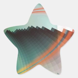 Símbolo abstracto fresco colorido pegatina en forma de estrella