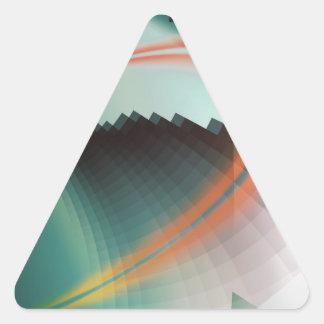 Símbolo abstracto fresco colorido pegatina triangular