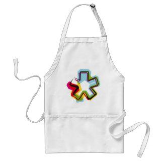 Símbolo abstracto y colorido * delantal