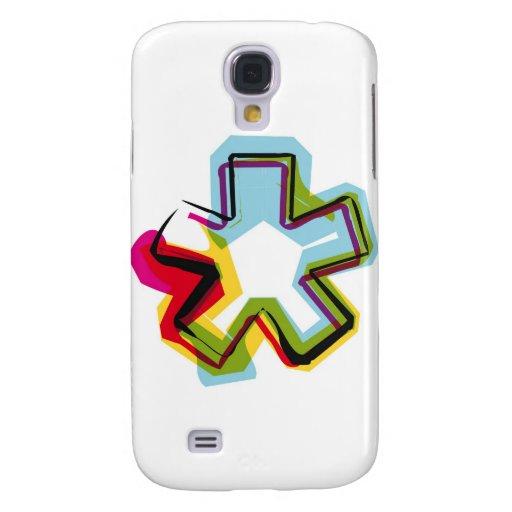 Símbolo abstracto y colorido * funda para galaxy s4