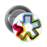 Símbolo abstracto y colorido * pin