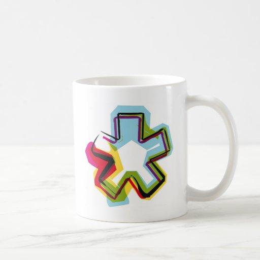 Símbolo abstracto y colorido * tazas