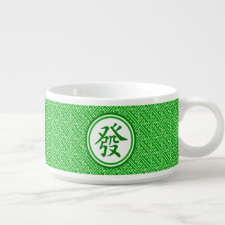 Símbolo afortunado de Mahjong • Verde oscuro Tazón