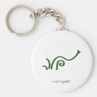 Símbolo agitado verde de SymTell Llavero