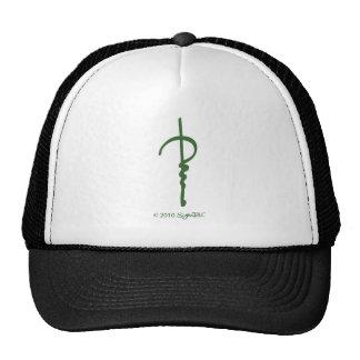 Símbolo agujereado verde de SymTell Gorro De Camionero