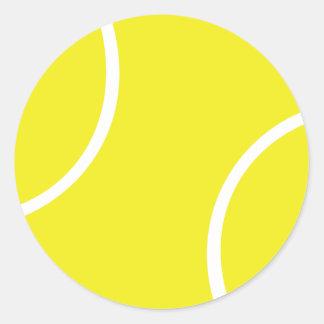 Símbolo amarillo de la pelota de tenis pegatinas redondas
