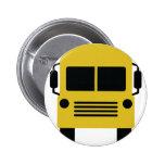 símbolo amarillo del autobús escolar pin